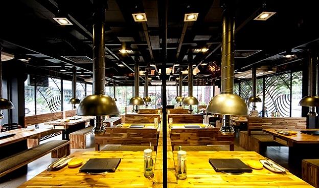 Đơn giá thiết kế thi công nội thất nhà hàng lẩu nướng sản xuất nội thất